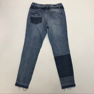 Free People Button Fly Raw Hem Skinny Jeans 28